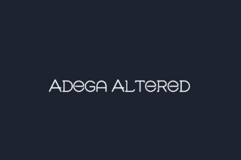 Adega Altered Free Font