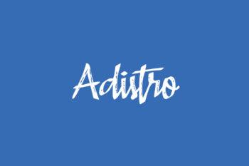 Adistro Free Font