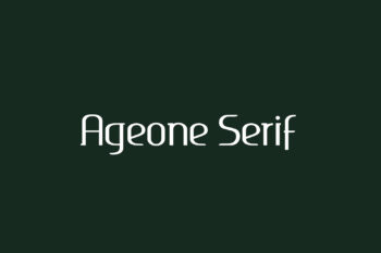 Ageone Serif Free Font