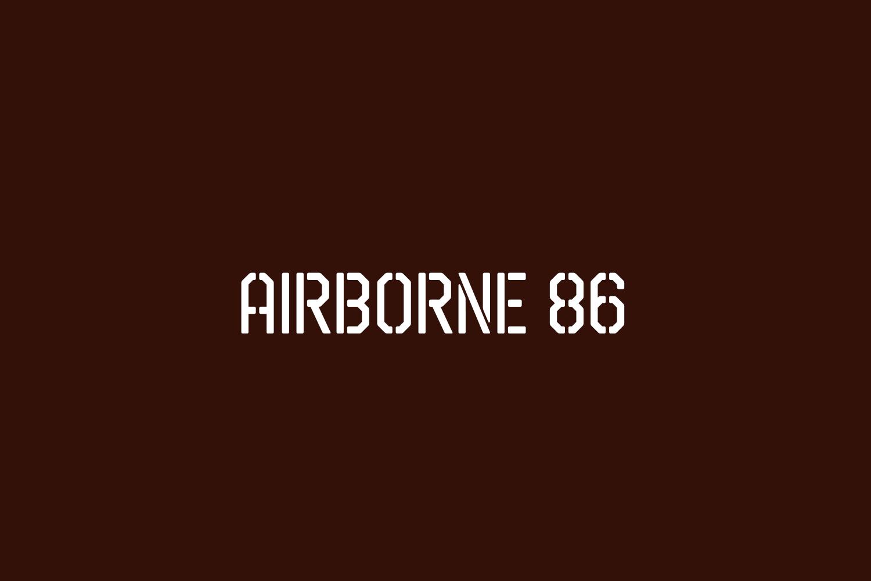 Airborne 86 Free Font
