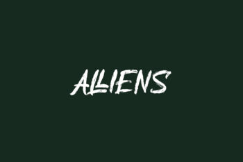 Alliens Free Font