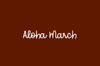Aloha March Free Font