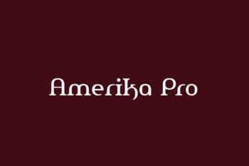 Amerika Pro Free Font