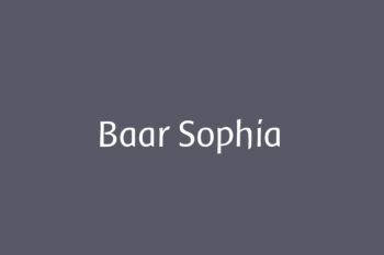 Baar Sophia Free Font
