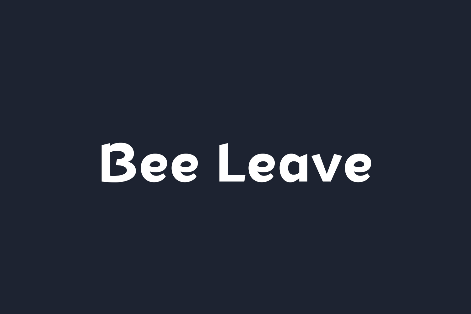 Bee Leave Free Font