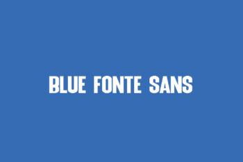 Blue Fonte Sans Free Font