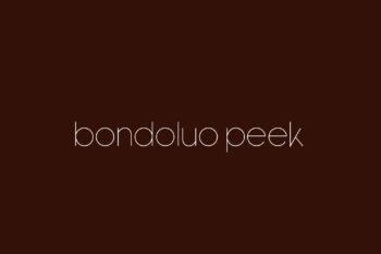 Bondoluo Peek Free Font