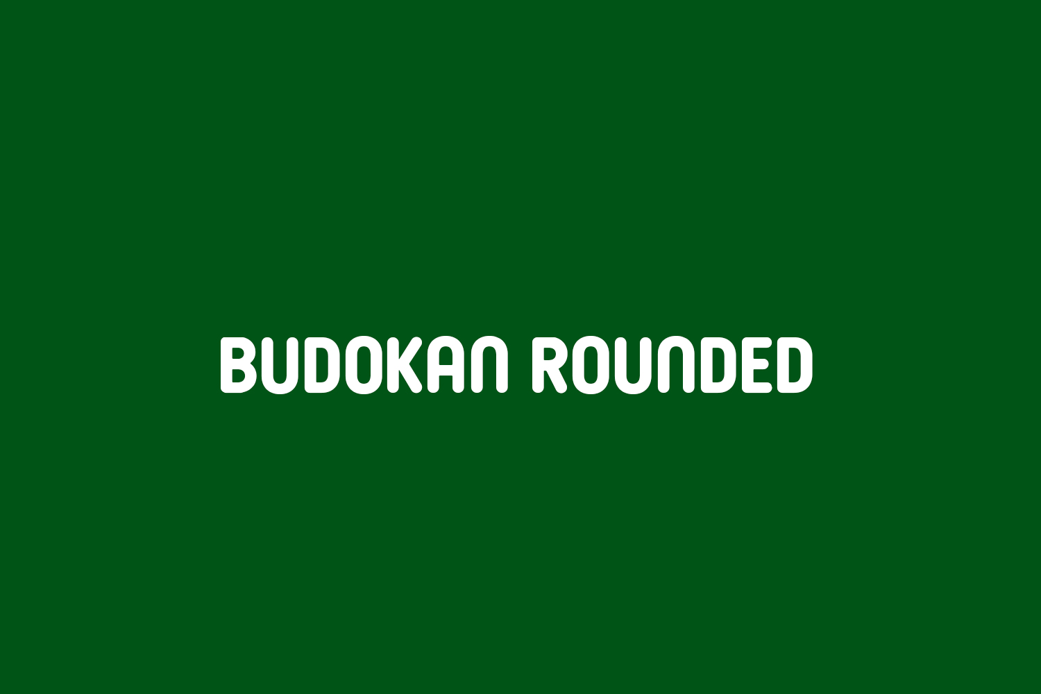 Budokan Rounded Free Font