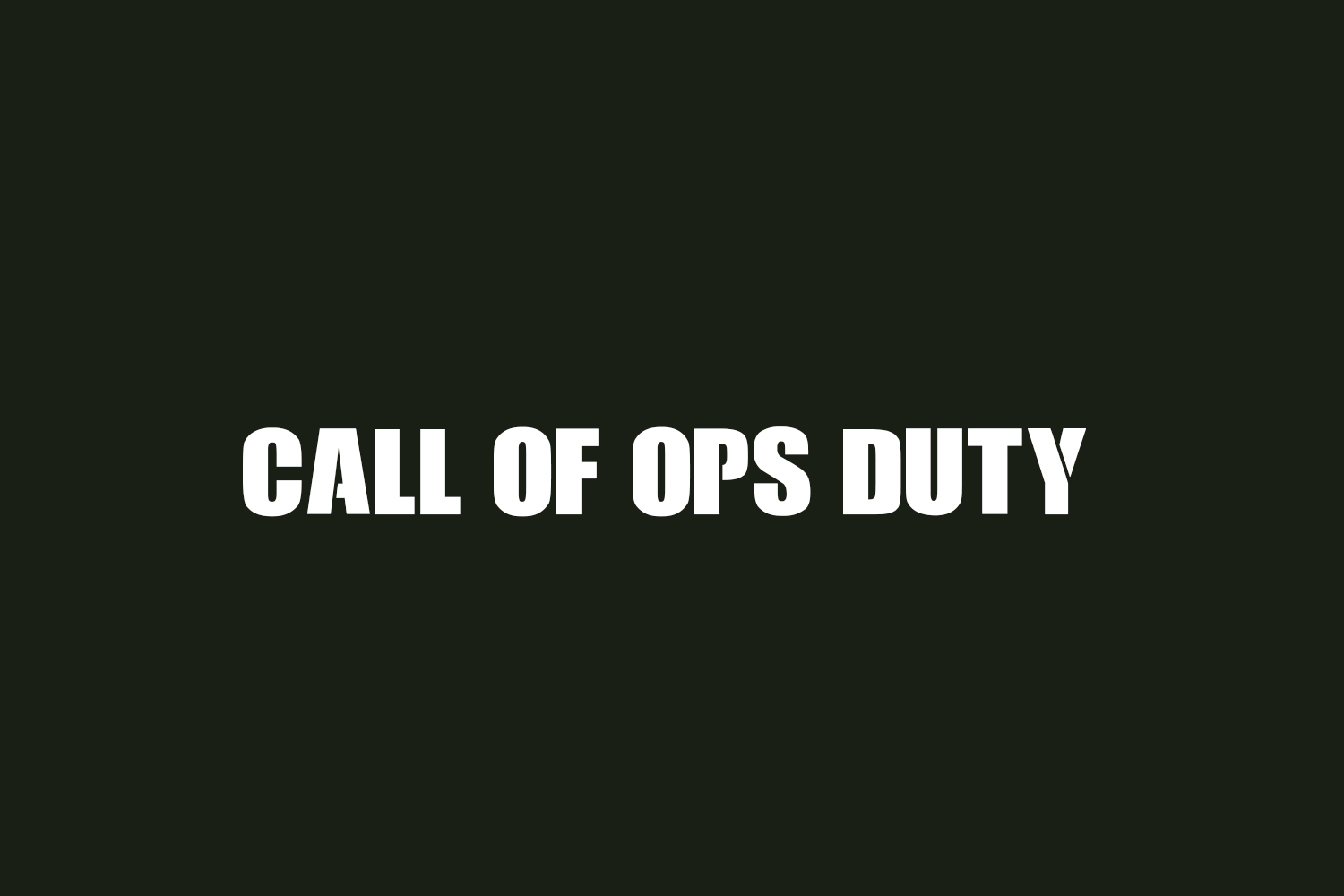 Call of Ops Duty Free Font