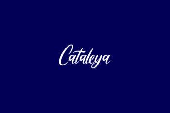 Cataleya Free Font