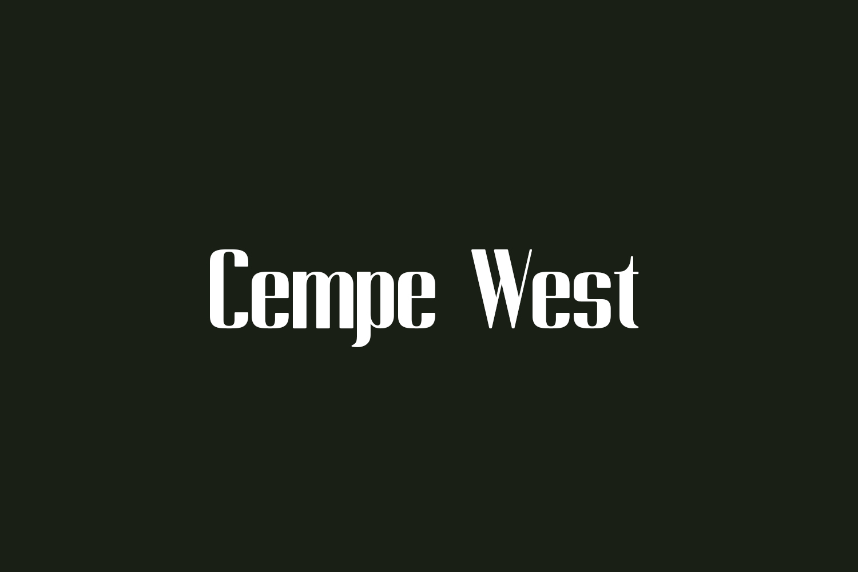 Cempe West Free Font