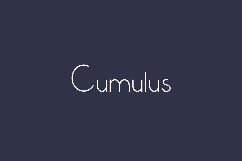 Cumulus Free Font