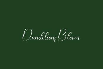 Dandelions Bloom Free Font