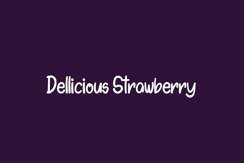 Dellicious Strawberry Free Font