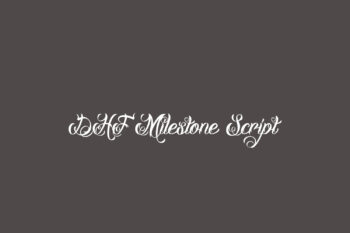 DHF Milestone Script Free Font