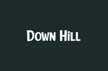 Down Hill Free Font