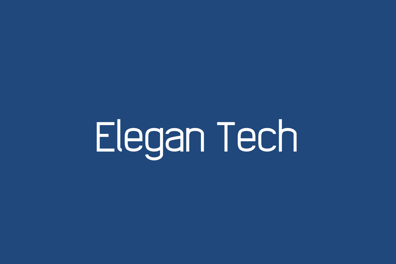 Elegan Tech Free Font