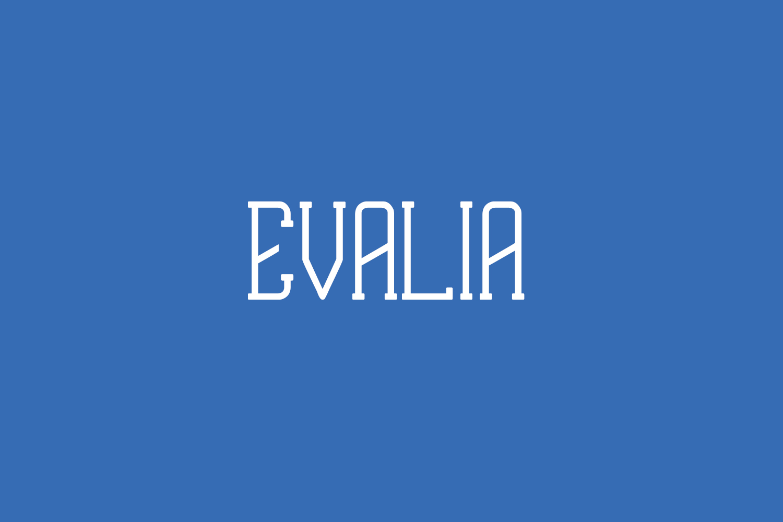 Evalia Free Font