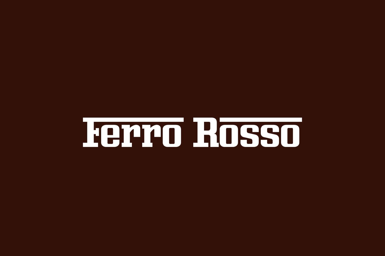 Ferro Rosso Free Font