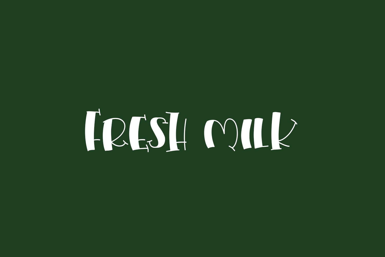 Fresh Milk Free Font