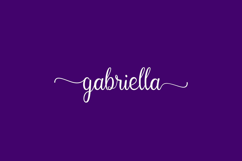 Gabriella Free Font
