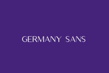 Germany Sans Free Font