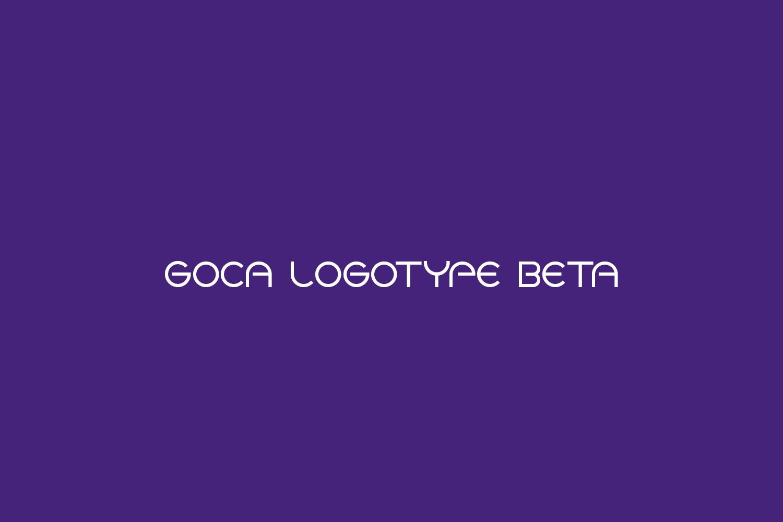 Goca Logotype Beta Free Font