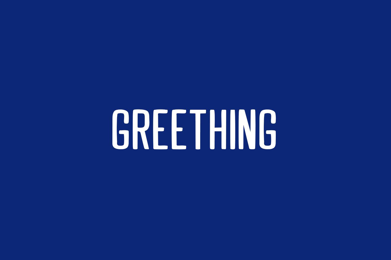 Greething Free Font