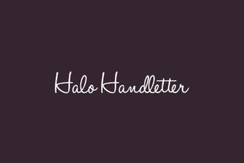 Halo Handletter Free Font