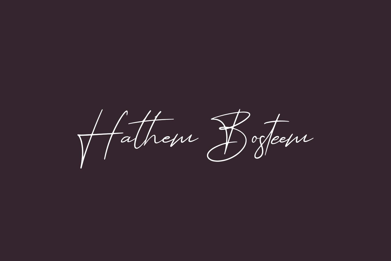 Hathem Bosteem Free Font