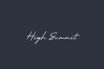 High Summit Free Font