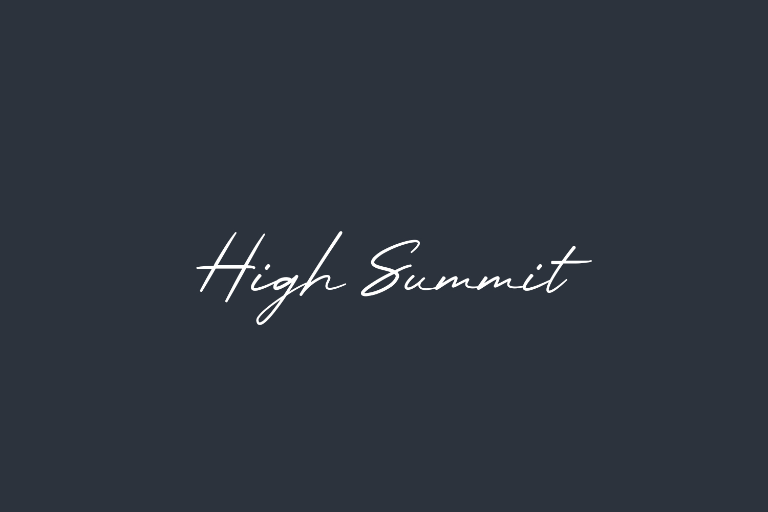 High Summit Free Font
