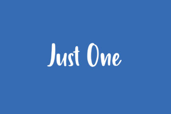 Just One Free Font