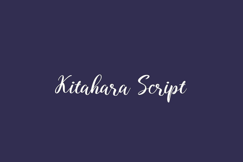 Kitahara Script Free Font