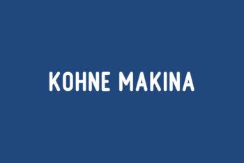 Kohne Makina Free Font
