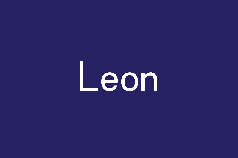 Leon Free Font