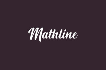 Mathline Free Font