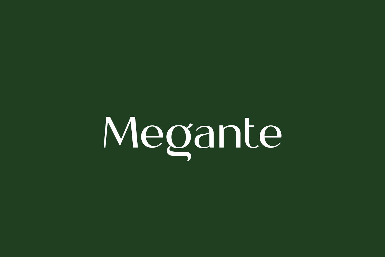 Megante Free Font