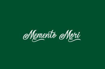 Memento Mori Free Font