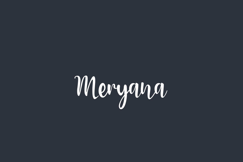 Meryana Free Font