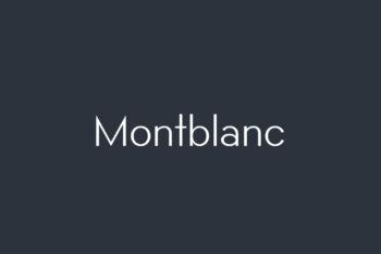 Montblanc Free Font