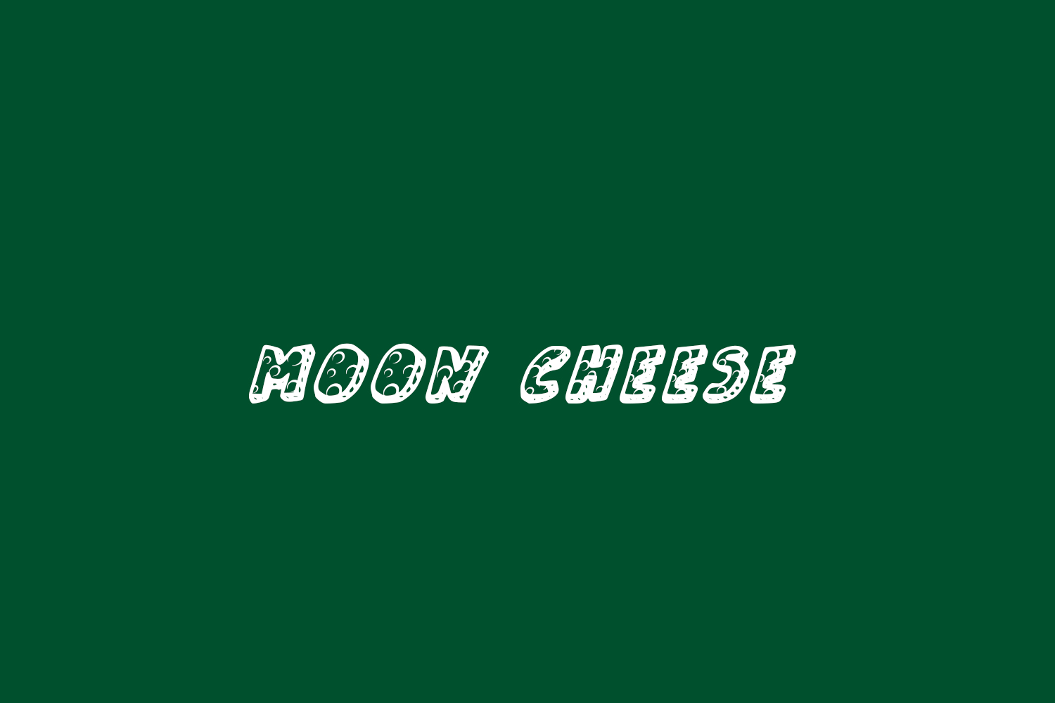 Moon Cheese Free Font