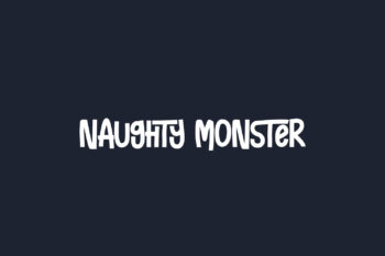 Naughty Monster Free Font