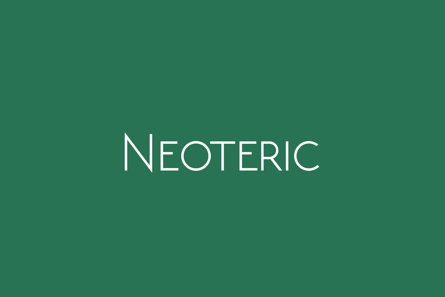 Neoteric Free Font