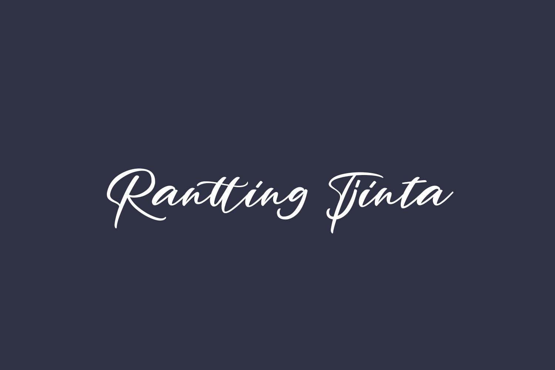 Rantting Tjinta Free Font