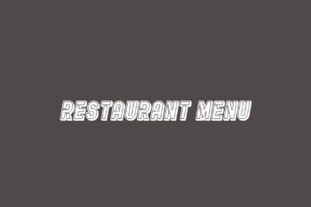 Restaurant Menu Free Font