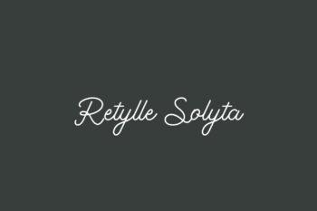 Retylle Solyta Free Font