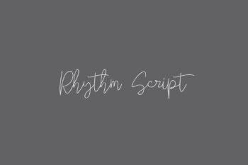 Rhythm Script Free Font