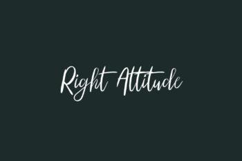 Right Attitude Free Font