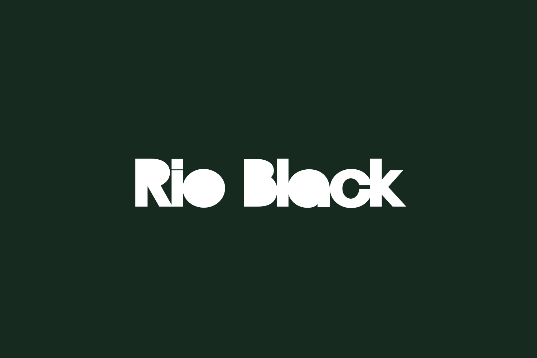 Rio Black Free Font
